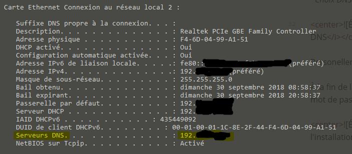 Vérification DNS